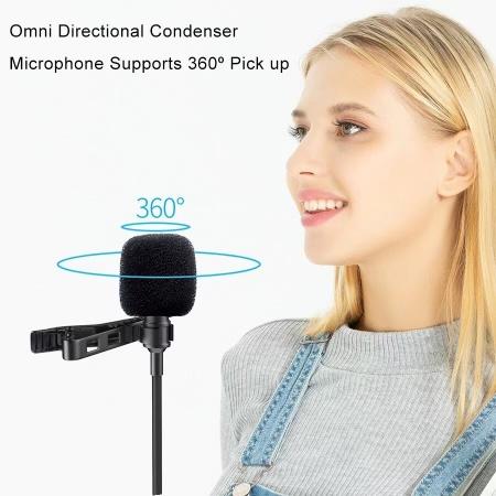 Микрофон JMARY MC-R2, петличный, Type-C, 2 м, черный фото